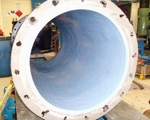 Pump casing after coating with Belzona 1341