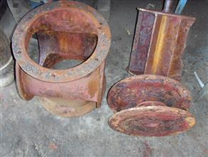 Severely corroded liquid ring vacuum pump