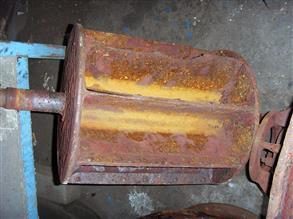 Corroded liquid ring vacuum pump rotor